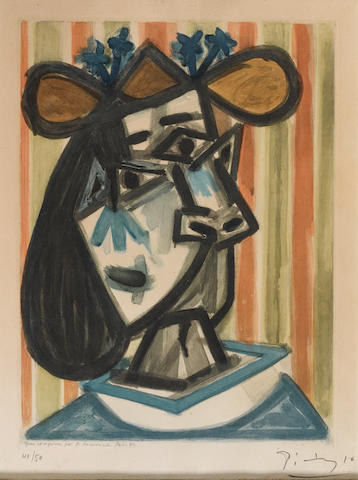 After Pablo Picasso (1881-1973); Tête de Femme (Dora Maar);