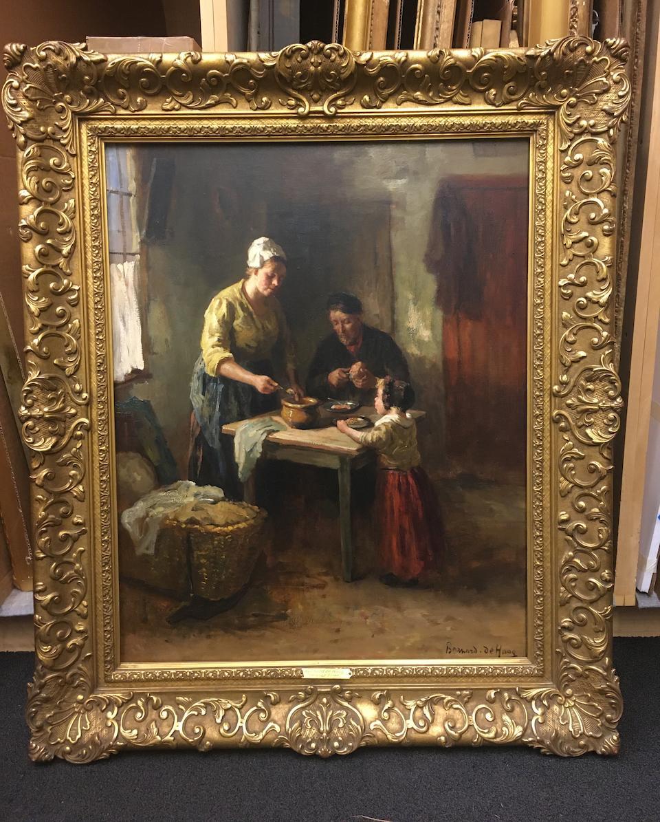 Bernard De Hoog (Dutch, 1867-1943) Dinner time 29 5/8 x 23 3/4in (75.3 x 60.3cm)