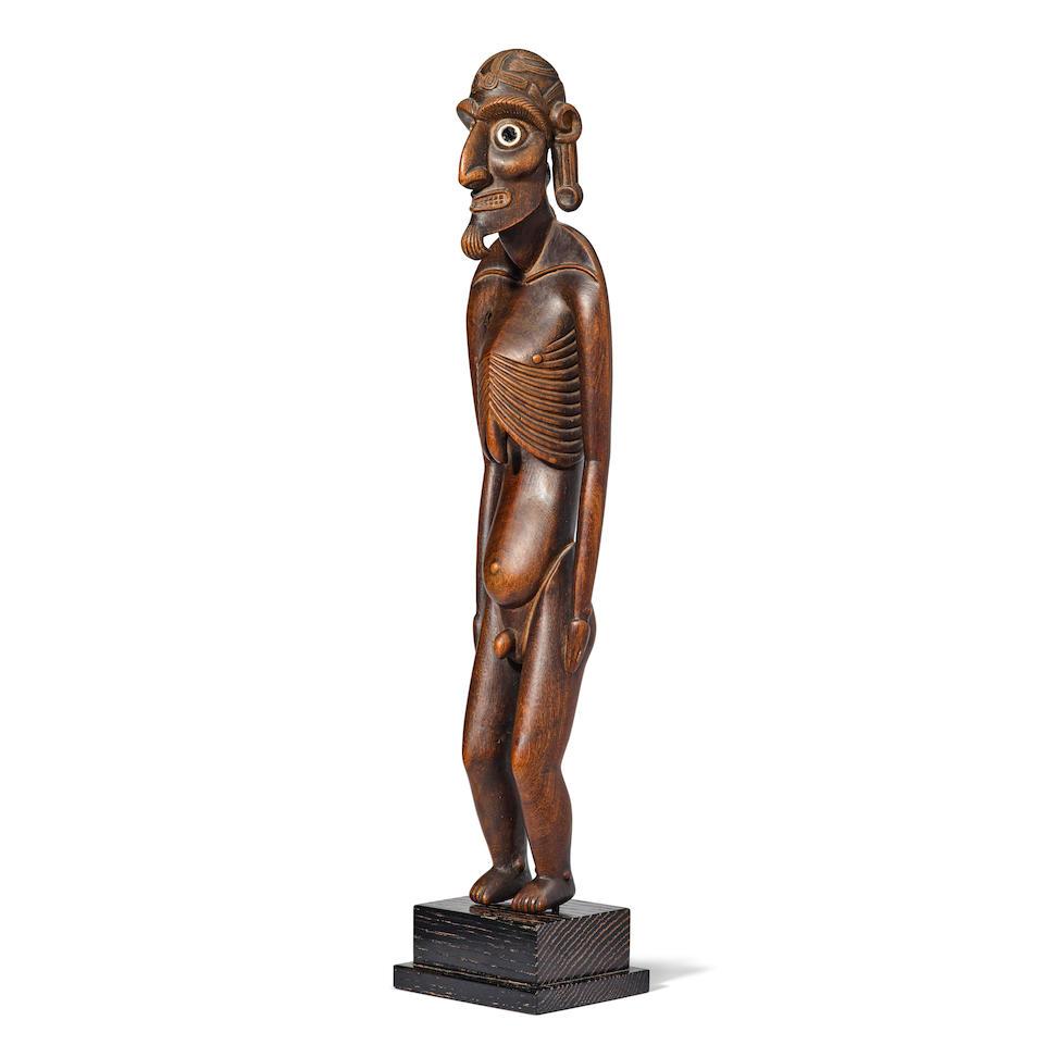 Magnificent and Rare Cadaverous Male Figure, Easter Island/Rapa Nui