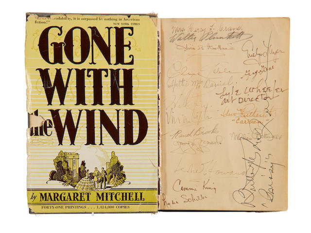 A Gone With the Wind book signed by cast and crew, gifted by cast member Fred Crane to his mother