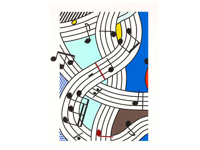 Roy Lichtenstein (1923-1997); Composition I;