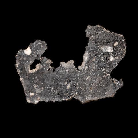 NWA 7493 Lunar Meteorite – Complete End Cut