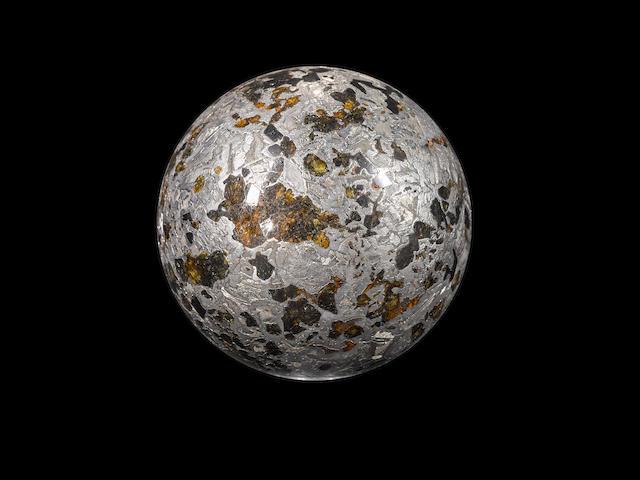 Superb Seymchan Meteorite Pallasitic Sphere