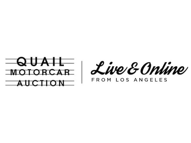 CALIFORNIA STREAMIN'QUAIL MOTORCAR AUCTION LIVE AND ONLINE FROM LOS ANGELES