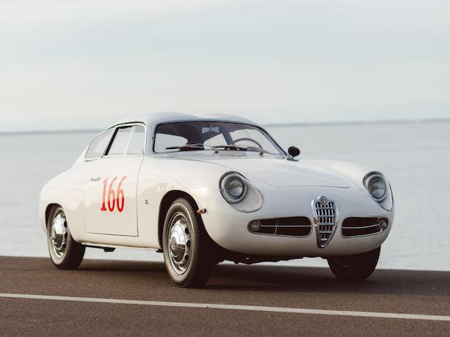One of 18 Sprint Veloce Zagatos producedMille Miglia eligible,1957 Alfa Romeo Giulietta Sprint Veloce  Chassis no. 4458 Engine no. 1315