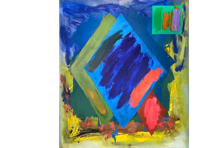 John Hoyland (1934-2011) Tabanka 25.5.81 40 x 35 in (101.6 x 88.9 cm) (Painted on May 28, 1981)