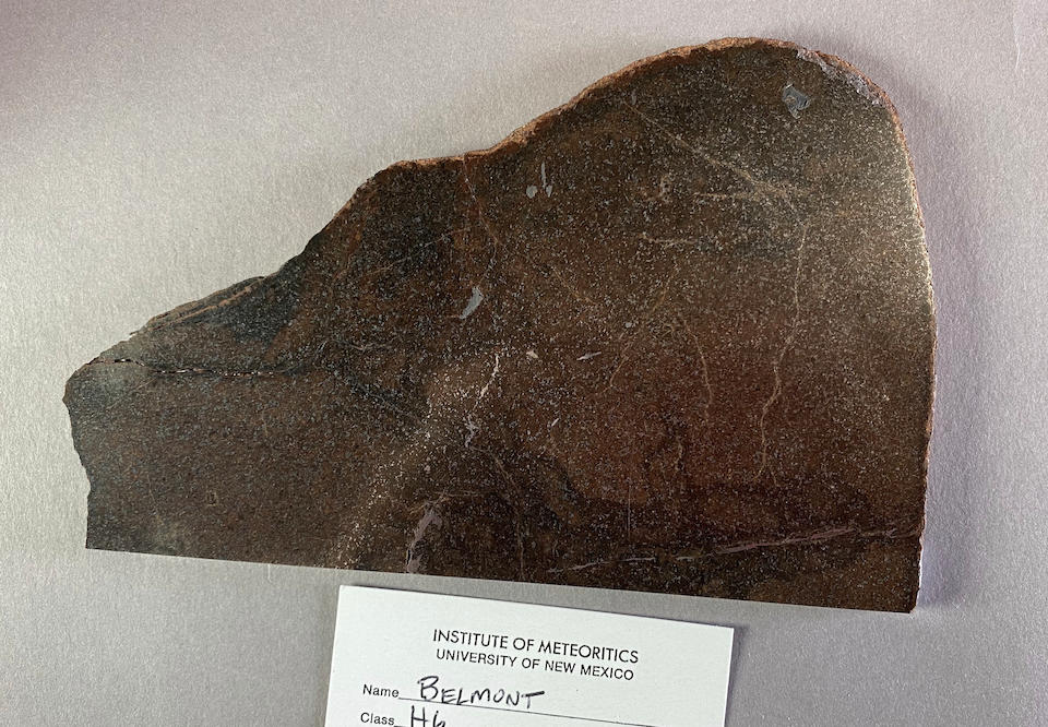 Belmont Meteorite – Partial Slice