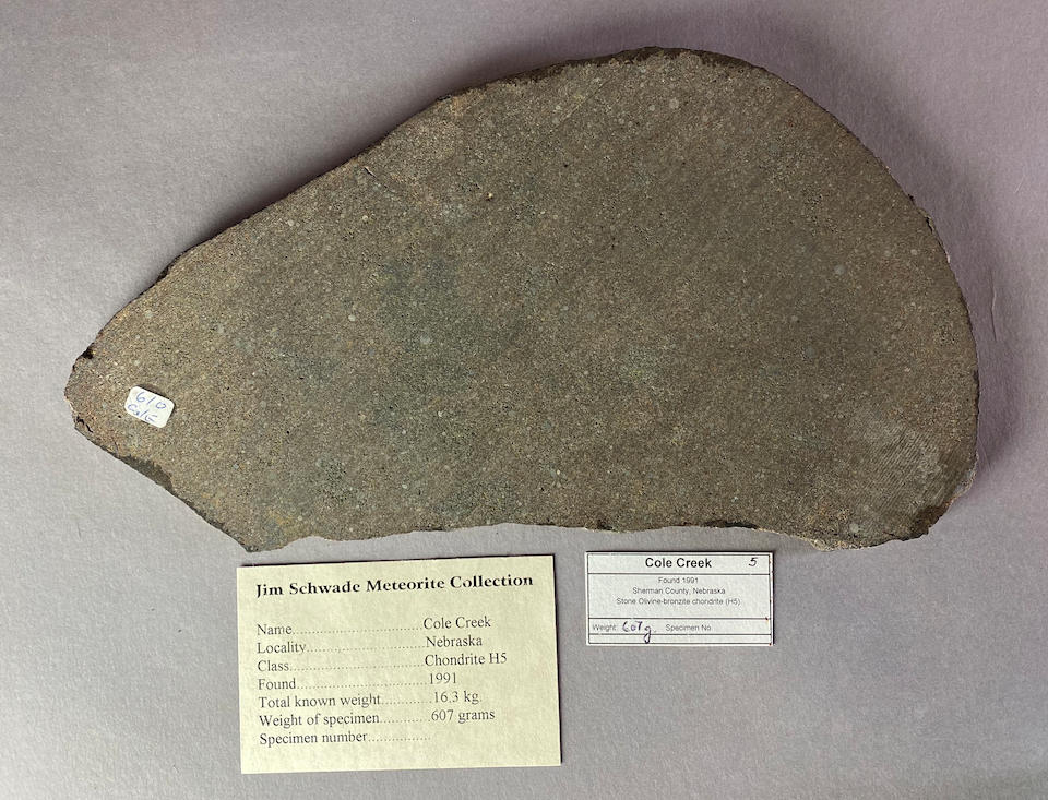 Cole Creek Meteorite – Complete Slice