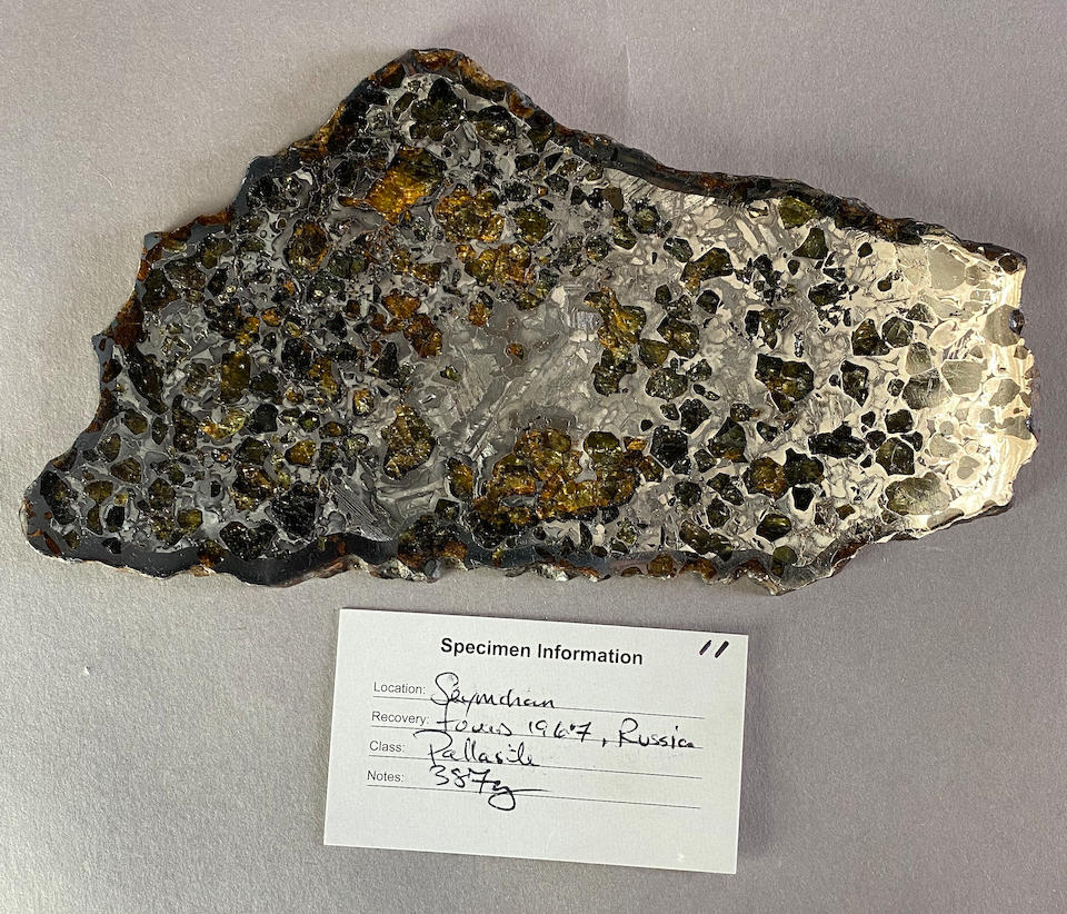 Seymchan Meteorite – Polished and Etched Complete Slice