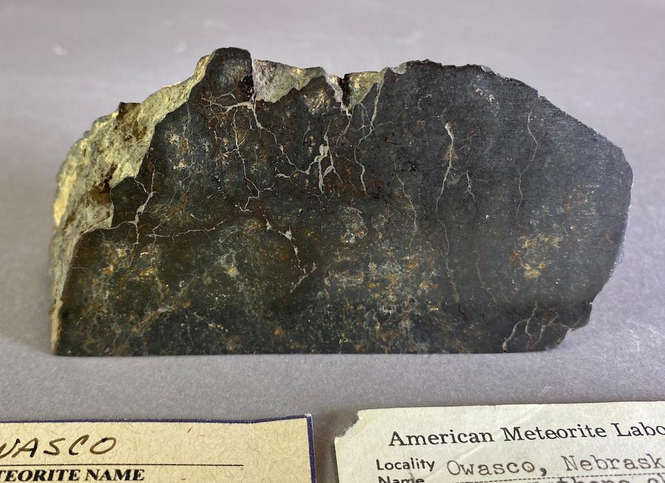 Owasco, a Meteorite from Nebraska – Partial End Cut