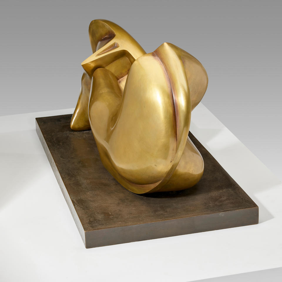 HENRY MOORE (1898-1986)<I> Two Piece Sculpture No. 7: Pipe </I>37 in (94 cm) (length) (Conceived in 1966)