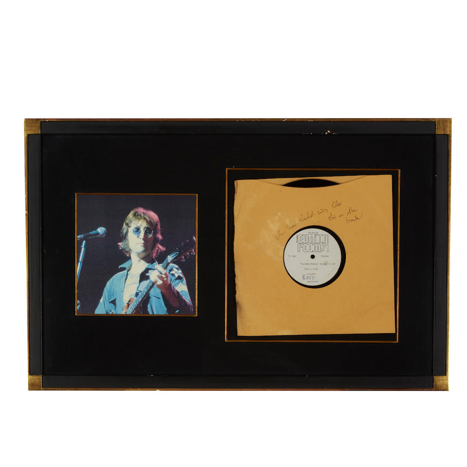 An acetate for John Lennon and Yoko Ono's Sunday, Bloody Sunday 1972