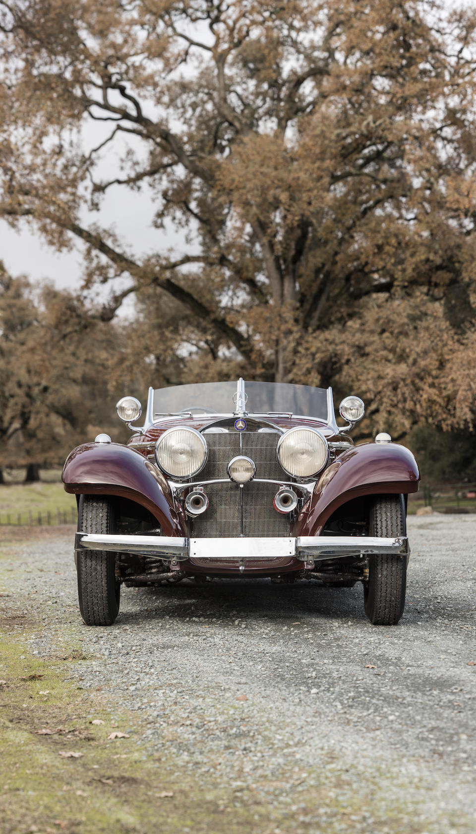 Highly original and well-documented example Rare and extremely desirable high-door, long-tail Special Roadster One of just 3 examples made with enclosed rear-mounted spare wheel,1937 Mercedes-Benz 540K Special Roadster  Chassis no. 154075 Engine no. 154075