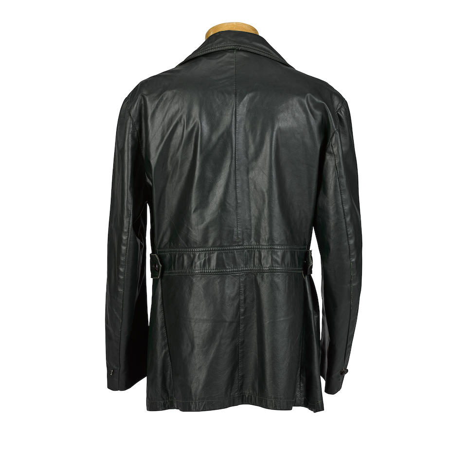 A Kurt Cobain owned and worn dark green leather jacket early 1990s