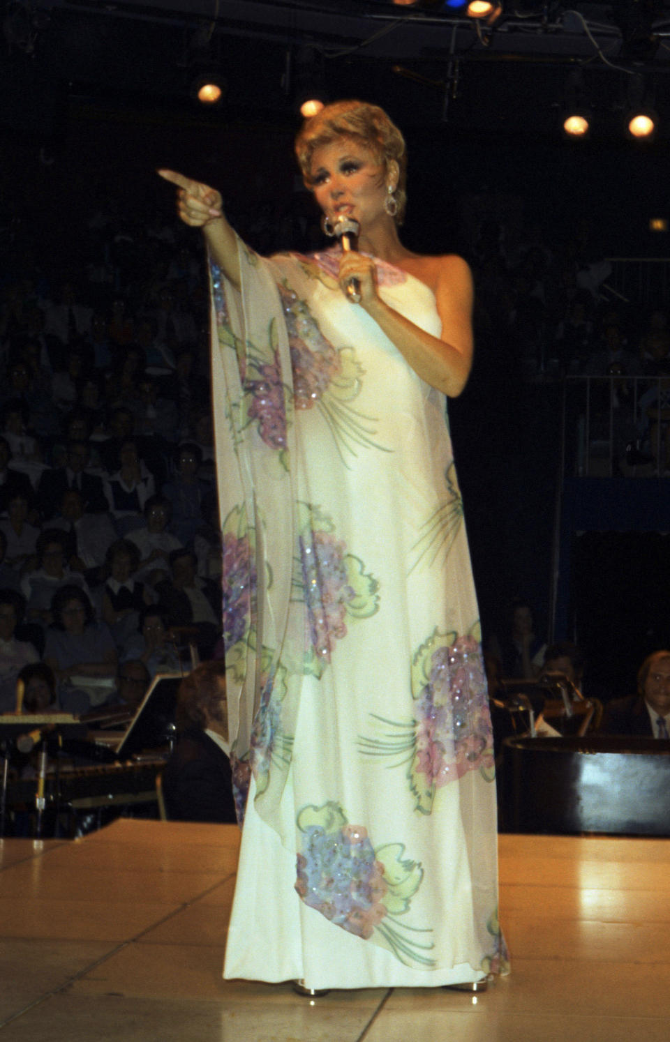 A Mitzi Gaynor stage-worn gown designed by Bob Mackie