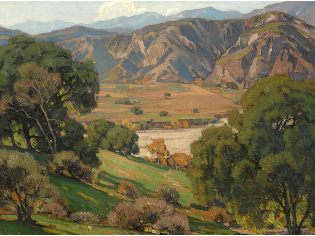 William Wendt (1865-1946) California Landscape 28 x 36in framed 39 x 47in (Painted in 1920.)