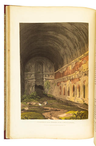 MIDDLETON, JOHN IZARD. 1785-1849. Grecian remains in Italy. A Description of Cyclopian Walls, and of Roman Antiquities. With topological and picturesque views of Ancient Latium.  London: Printed for Edward Orme by W. Bulmer and Co.; J. F. Dove, 1812 [but 1811 - c. 1823: see below].