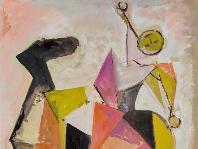 MARINO MARINI (1901-1980) <I>Cavallo e Cavaliere</i> Image: 19 x 15 1/2 in (48.9 x 39.4 cm) Sheet: 30 x 22 1/2 in (76.2 x 57.1 cm) (Executed in 1977)