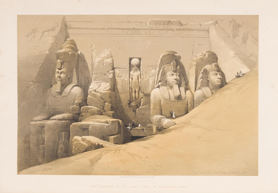ROBERTS, DAVID. 1796-1864. Egypt and Nubia from Drawings Made on the Spot ... with Historical Descriptions by William Brockendon. London: F.G. Moon, 1846-9.