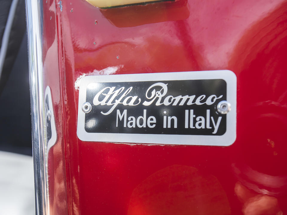 <b>1959 Alfa Romeo 2000 Spider</b><br />  Chassis no. AR10204.00079 <br />Engine no. AR00204.01905 (see text)