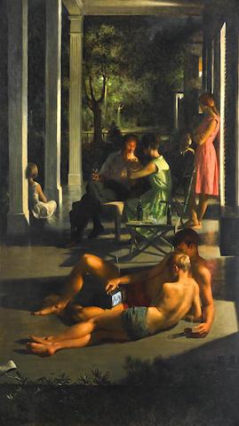 John Koch (1909-1978) Summer Night 78 x 44in (198.1 x 111.8cm) (Painted in 1965.)