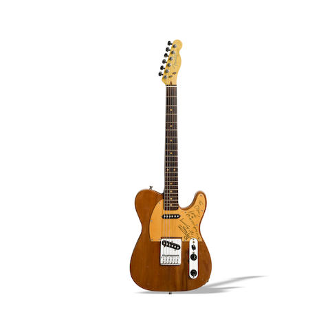 A Keith Richards signed and inscribed Custom Telecaster-Style Guitar Played on the Some Girls Recordings and Tour