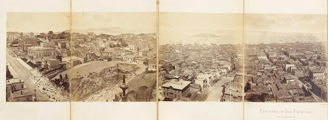 MUYBRIDGE, EADWEARD. 1830-1904. Panorama of San Francisco, from California-St. Hill. [San Francisco:] Morse's Gallery, 1877.