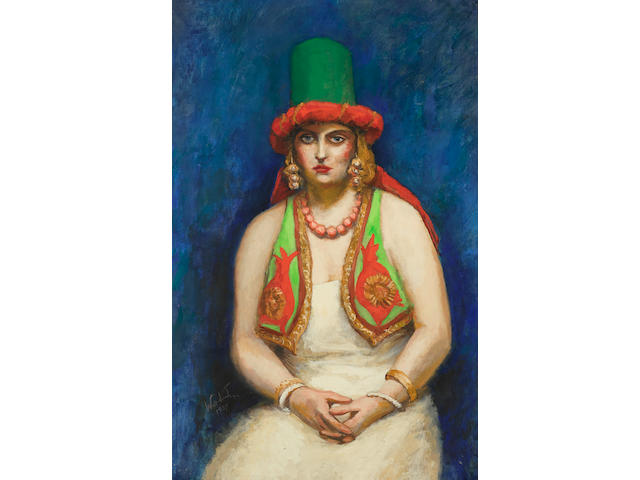 Walt Kuhn (1877-1949) Lady in Vest 36 x 23in (91.4 x 58.4cm) (Painted in 1939.)