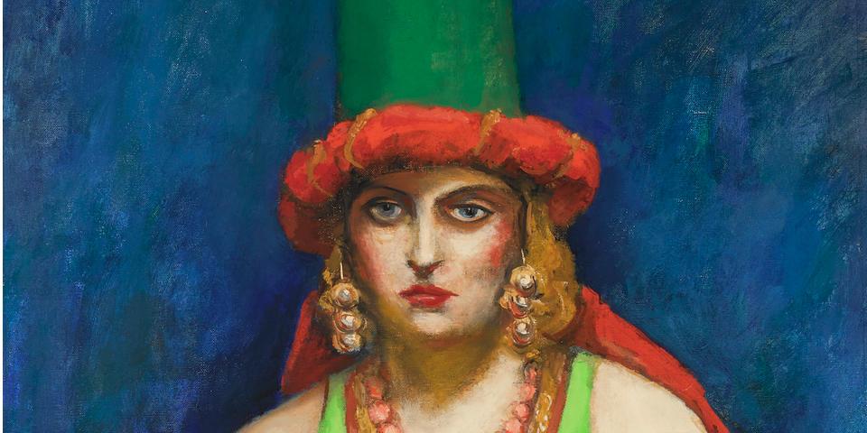Walt Kuhn (1877-1949) Lady in Vest 36 x 23in (91.4 x 58.4cm) (Painted in 1939.)