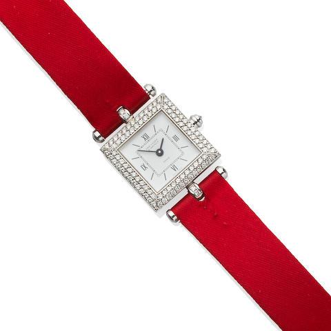 "Van Cleef & Arpels: White Gold and Diamond ""Classique"" Wristwatch"