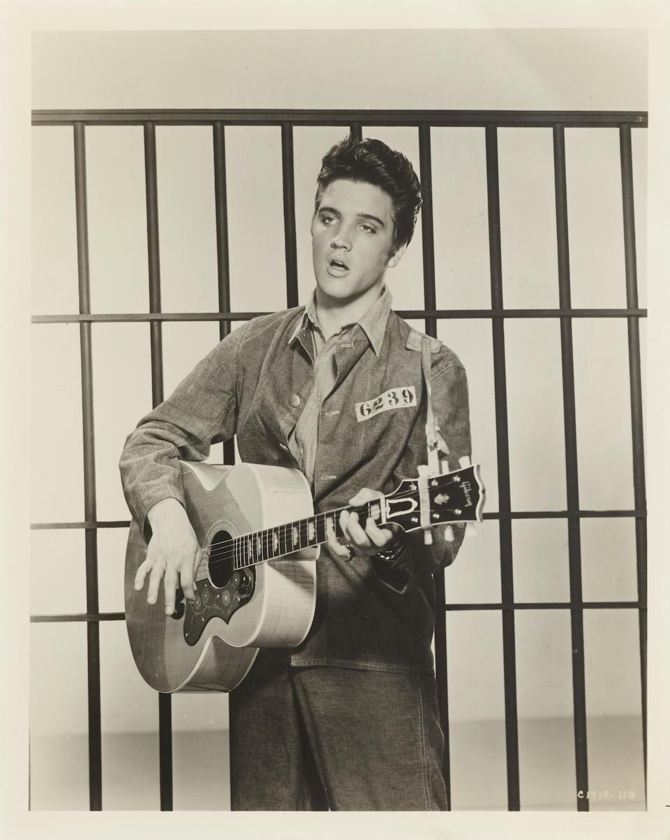 An Elvis Presley Saint Christopher medal worn in Jailhouse Rock