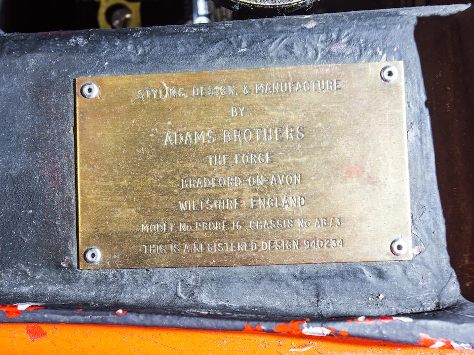 <b>1969 M-505 Adams Brothers Probe 16</b><br />Chassis no. AB/3