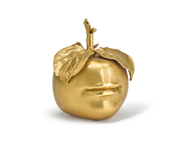 Claude Lalanne (1924-2019) Pomme Bouche designed 1975, this example executed 1980edited by Artcurial, gilt-bronze, stamped 'CL Lalanne' and 'Artcurial' numbered 135/250height 5 1/2in (14cm); diameter 4 1/2in (11.4cm)