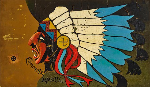 WORLD WAR I: LAFAYETTE ESCADRILLE. A painted fuselage from the Lafayette Escadrille.  [France: c.1916-18.]