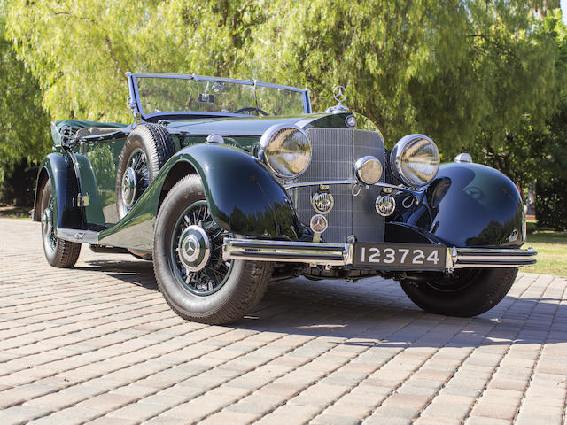 <b>1936 Mercedes-Benz 500K Offener Tourenwagen</b><br />Chassis no. 209421 <br />Engine no. 123724