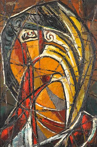 Afewerk Tekle (Ethiopian, 1932-2012) 'The Horrors of War no. 3'