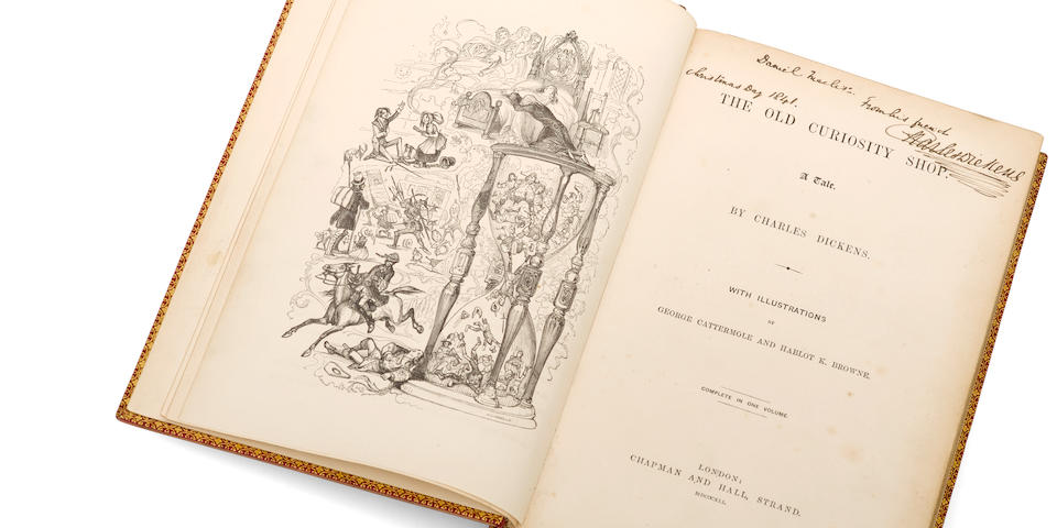 The Old Curiosity Shop.  Presentation copy inscribed to Daniel Macclise, Christmas 1841 (#32)