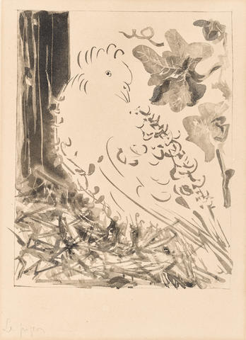 Pablo Picasso (1881-1973); Le Pigeon, from Buffon series;