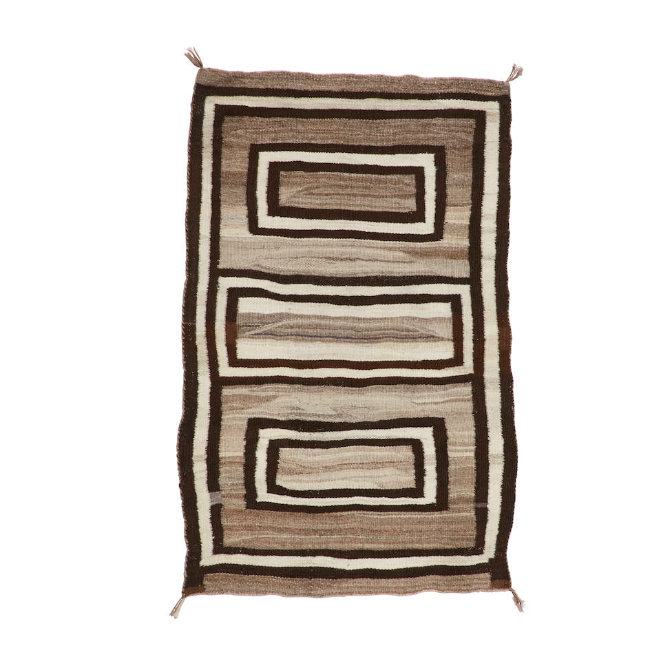 A Navajo double saddle blanket
