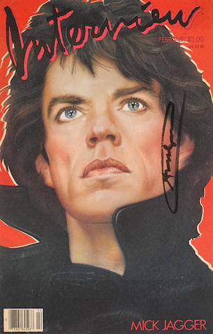 Andy Warhol (1928-1987); Interview Magazine (Mick Jagger);