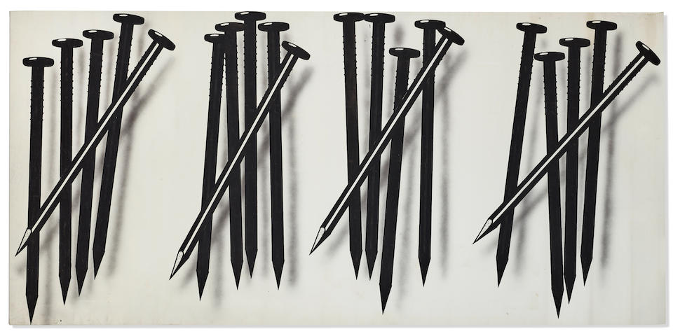 James Rosenquist (American, 1933-2017) Untitled (Nails) 1973
