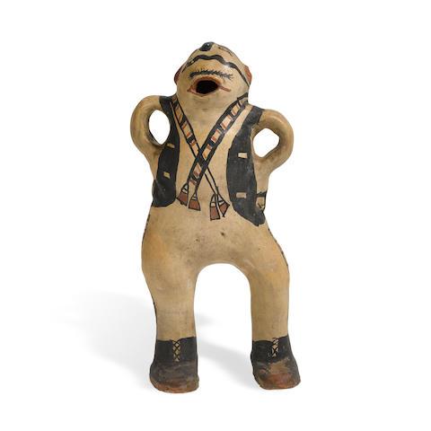 A Cochiti polychrome figure