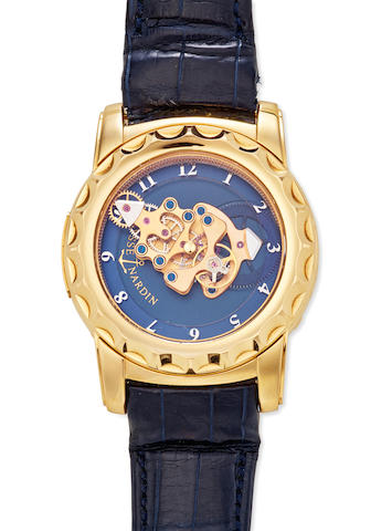 Ulysse Nardin. An unusual 18K gold 7-day wristwatch with 60-minute revolving movement Freak, Ref: 016-88, 2000's