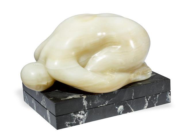 """A Francisco Zúñiga stone sculpture, """"Desnudo Ovoide (Ovoid Nude),"""" 1964"""