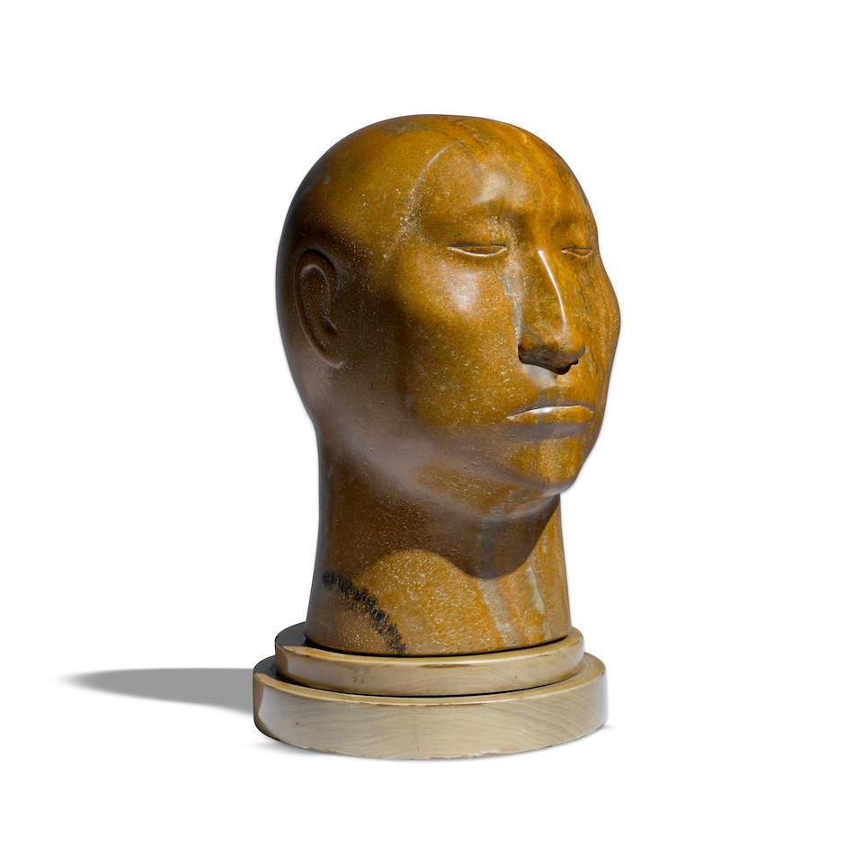 "A Francisco Zúñiga stone sculpture, ""Cabeza de Mujer (Woman's Head),"" 1962"