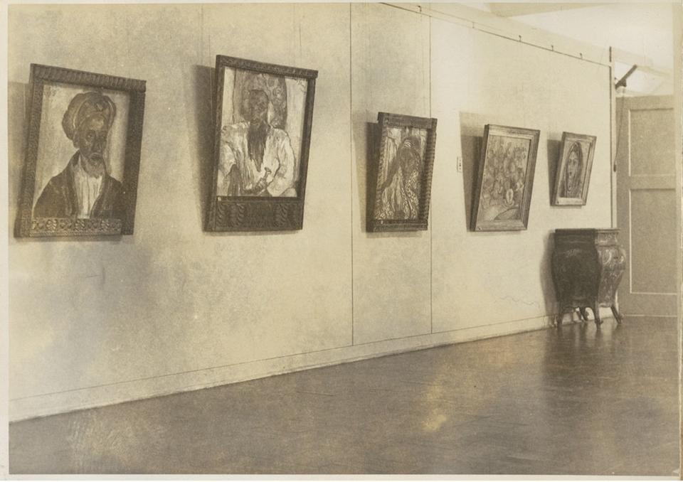 Irma Stern (South African, 1894-1966) Swahili Woman in the artist's original Zanzibar frame.