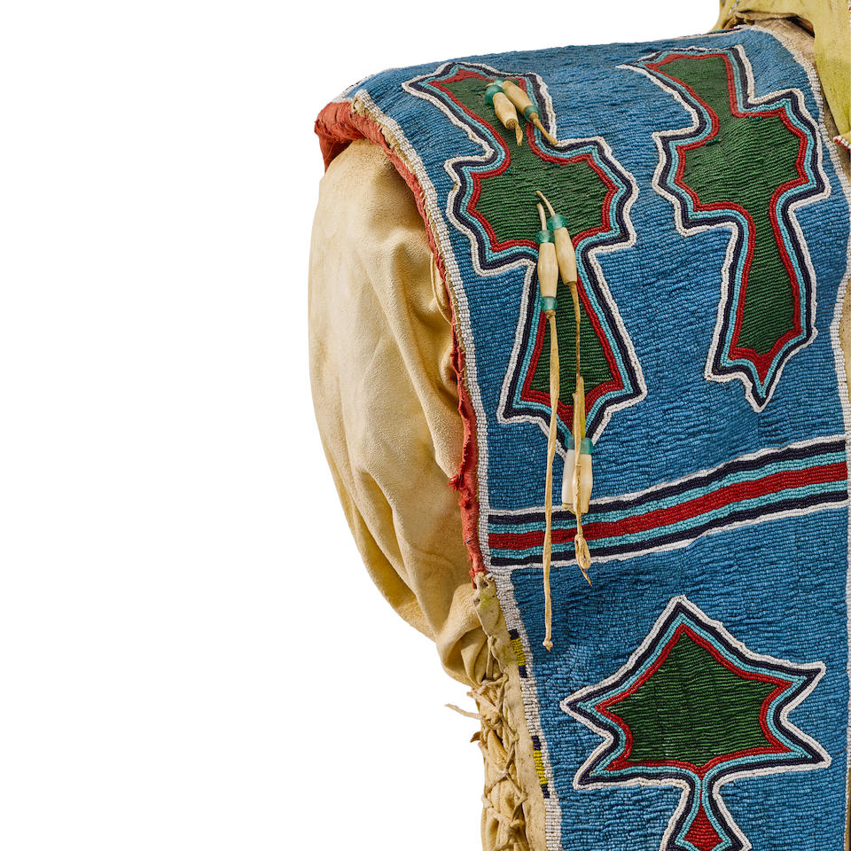 A Kiowa beaded cradle