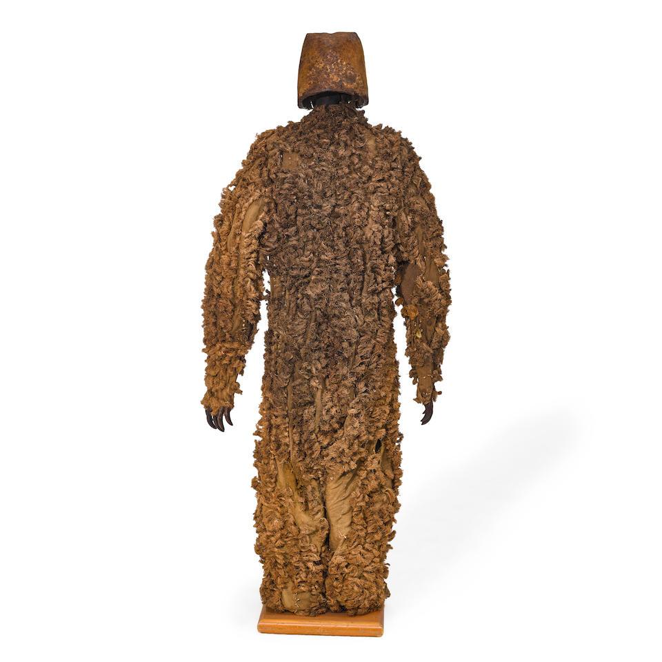 A Kwakwaka'wakw (Kwakiutl) grizzly bear costume