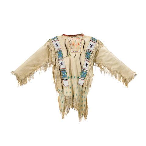 A Sioux beaded man's shirt