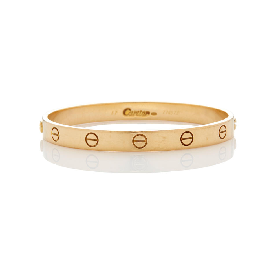 Cartier: Gold 'LOVE' Bracelet